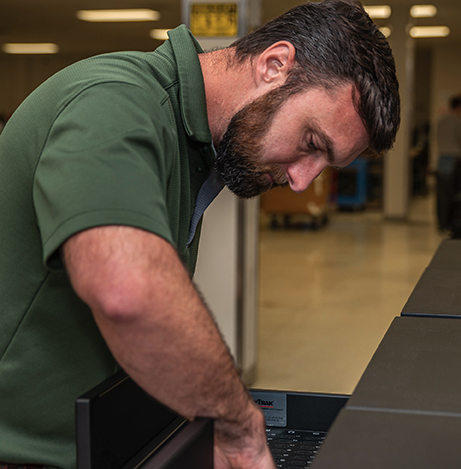 Man reaching into a KeyTrak drawer