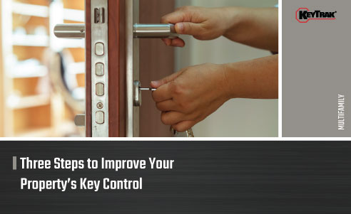 Hands shown unlocking door